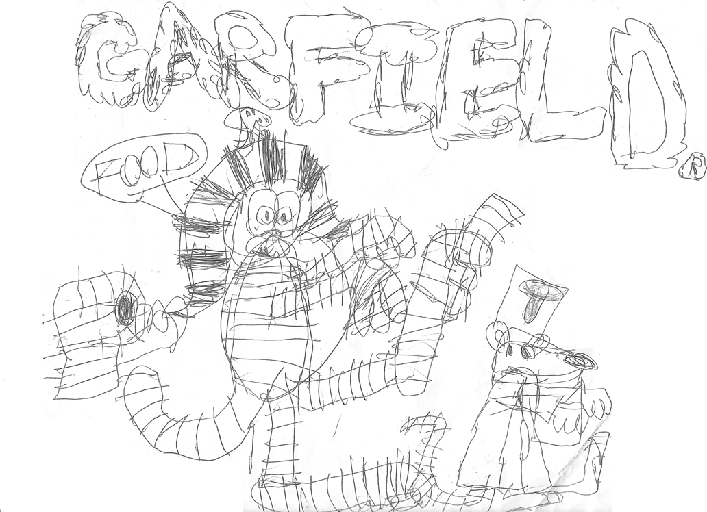 Garfield as a mummy and Floyd as a zombie